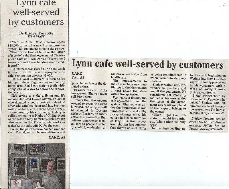 Lynn Cafe Well Served